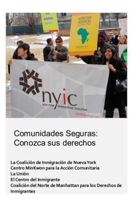Comunidades Seguras - New York Immigration Coalition