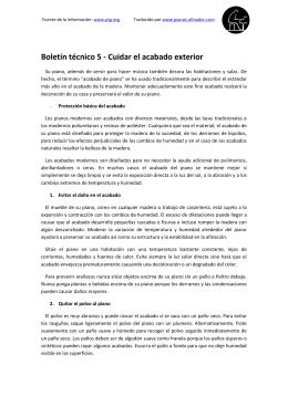 Boletín técnico 5 - Cuidar el acabado exterior