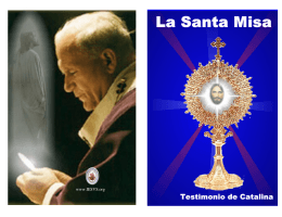La Santa Misa internet - Portal Católico San Gabriel Arcángel