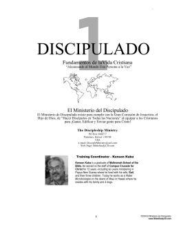 DISCIPULADO - Discipleship Bible Studies
