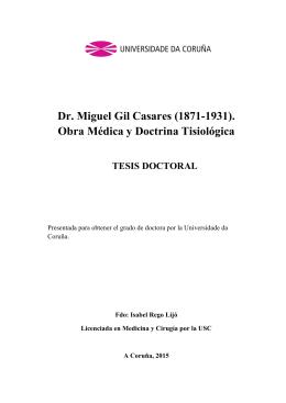 Dr. Miguel Gil Casares (1871-1931). - RUC