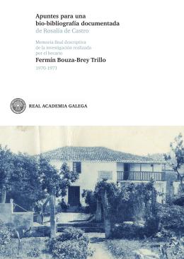 Apuntes para una bio-bibliografía documentada de Rosalía de