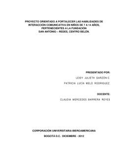 116 PROYECTO ENFASIS - II - 2012