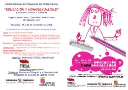 Curso Homosexualidad y educación 2005 folleto versión 2.pub