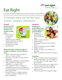 Eat Right - Healthy Food Bank Hub