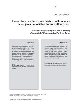 Vida y publicaciones de mujeres periodistas durante el Porfiriato