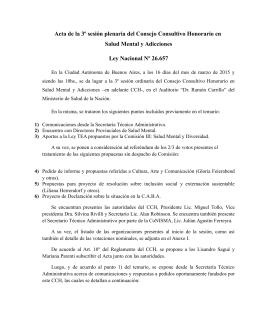 Acta de la III Sesión Plenaria CCH