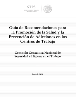 Guía de Recomendaciones para la Promoción de la Salud y la