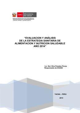 2014 - Direccion Regional de Salud Tacna