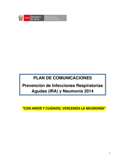 y Neumonía 2014 - Presidencia del Consejo de Ministros