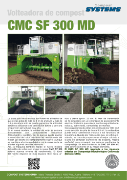 CMC SF 300 MD - Compost Systems