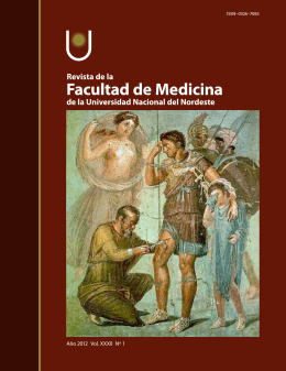 Año 2012 Vol XXXII Nº 1 - Facultad de Medicina