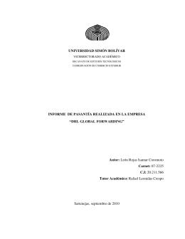 DHL GLOBAL FORWARDING - Biblioteca central de la Universidad