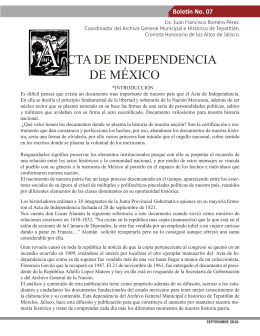 Boletín No. 7 - Acta de Independencia