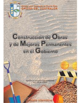 Construcción de Obras y de Mejoras Permanentes en el Gobierno