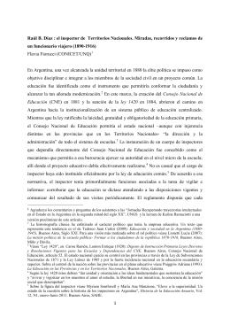 1 Raúl B. Díaz : el inspector de Territorios Nacionales