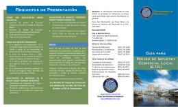 Requisitos de Presentación