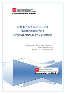Folleto informativo - Comunidad de Madrid