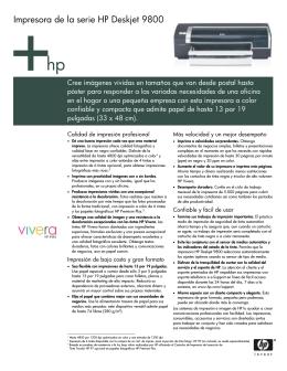 Impresora de la serie HP Deskjet 9800