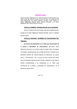 ACTA Nº 51-2012 - Tribunal Supremo de Elecciones