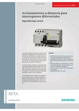 Accionamientos a distancia para interruptores diferenciales