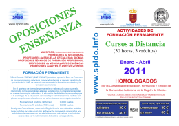 Relación de Cursos de Formación a Distancia Enero-Abril