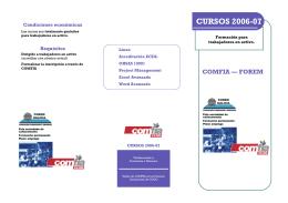 folleto formación - Comfia-CCOO