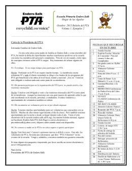 Boletín Informativo del PTA de Enders