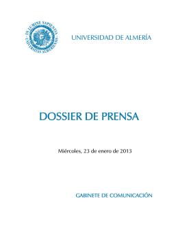 DOSSIER DE PRENSA - Universidad de Almería