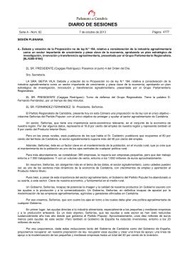 DIARIO DE SESIONES - Parlamento de Cantabria