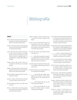 Bibliografía - Programa Estado de la Nación