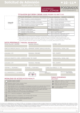 Application Form - Instituto de Medio Ambiente
