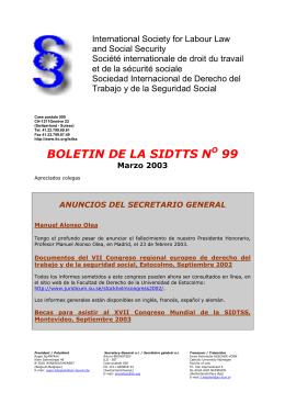 Boletín N° 99 - Asociación Argentina de Derecho del Trabajo y de la