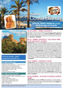 Costa Blanca - Paisajes.es
