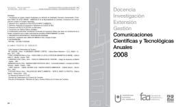 Comunicaciones Científicas y Tecnológicas Anuales 2008