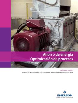 Ahorro de energía Optimización de procesos