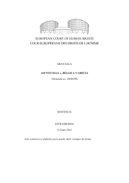CASE OF M.S.S. v. BELGIUM AND GREECE Spanish - ESCR-Net