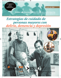 Caregiving for elders4 - Centro Colaborador Español del Instituto