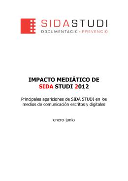 Impacto en los medios (1r semestre 2012)