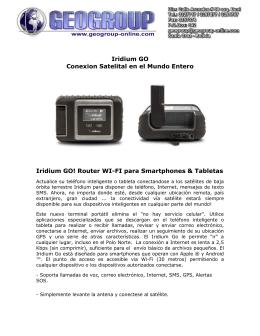 Iridium GO Conexion Satelital en el Mundo Entero