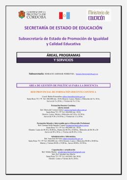 SECRETARÍA DE ESTADO DE EDUCACIÓN