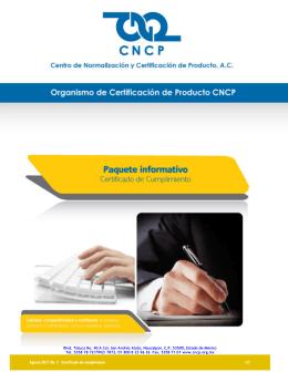 Organismo de Certificación de Producto CNCP