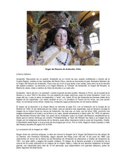 Virgen del Rosario de Andacollo, Chile Crónica histórica Andacollo