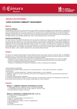FICHA FOLLETO SUP EN COMMUNITY MANAGEMENT
