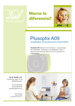 Folleto PlusOptix Modelo A09