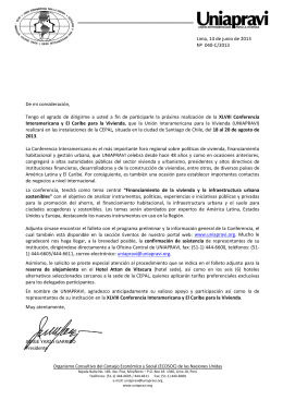 la carta de invitación a la Conferencia