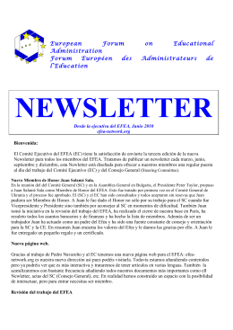 Newsletter - FEAE Canarias
