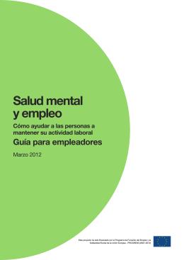 Salud Mental y Empleo. Guía para empleadores