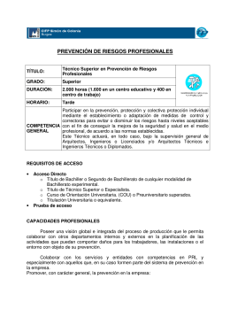 Folleto Prevencion
