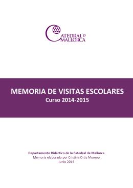 MEMORIA DE VISITAS ESCOLARES Curso